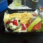 The grand blue cheese burger. Yummy.