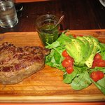 Ribeye, the best chimichurri in Argentina and an amazing salad