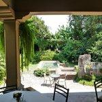 Lunch in a beautiful garden