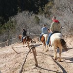 IT WAS VERY STEEP AND FUN WHEN YOU FIRST STARTED OUT GOING DOWN INTO THE CANYON