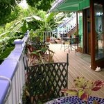 Beautiful large porch overlooking the salt pond