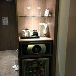 her gün yenilenen kahve ve çay seti, kasa,ücretli minibar