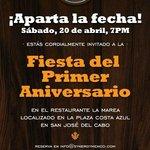 Invitación a la celebración de nuestro 1er Aniversario!