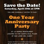 Invitation to our 1st Anniversary Party!