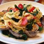 the fettuccini with clams is a delicious special