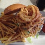 Counter Burger with fries