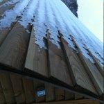 Ice on wigwam roof