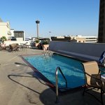 small, heated pool on the roof