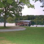 Sloping grounds to the boat dock, easy to load in and out.
