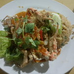 Seafood fried rice with crab