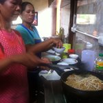 Making Pad Thai at Kanita Resort