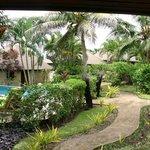 Overlooking gardens
