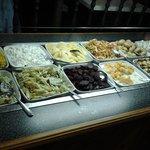 Well stocked salad bar