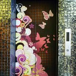 Our colourful elevator