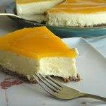 semifrio de Manga (mango cheese cake)