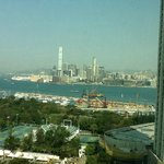 View from our room towards the Victoria harbor