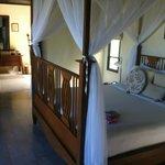 main bedroom in pool villa suite