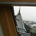View of the historical roof architecture of Bern
