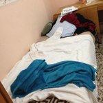 My bedroom; I slept on towels