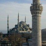 Blick von Dachterrasse Richtung Blaue Moschee