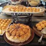 A few of the delicious options on the breakfast buffet