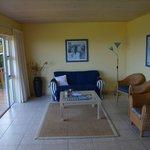 Chalet Luca , Livingroom with german TV-Programm