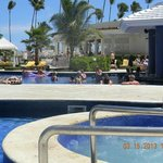 View of Jacuzzi and Swim up bar from our Cabana...