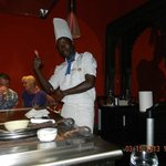 Our chef at the Japanese Restaurant... The best of the Restaurants on site
