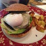 Bacon and egg Cheesburger