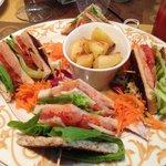 Salmon Club Sandwich