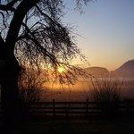 Guten Morgen! S- onnenaufgang in Podlanig.