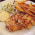 Salmon Crouquettes & Creole Slaw