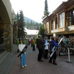 ski concierge-they will carry your skis up the steps for you if you want!