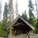 walk way from The Four Seasons to Whistler Village
