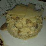 Arroz cremoso con boletus y foie