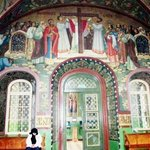 Colourful painting in the Sanctuary