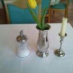 ansonsten Tische nett dekoriert