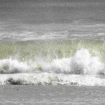 ...Nice waves...Nice cold seawater too!!.....