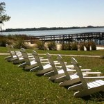 Chairs overlooking Lake Dora