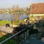 El Dordogne desde eel balcón de la habitación