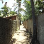 Small alley to the beach, 50m away from the hotel