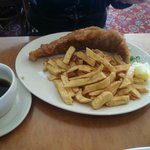 Large Traditional Haddock and Chips