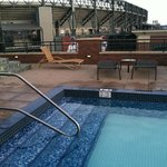 Rooftop Pool - Safeco Field in background