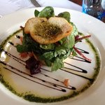 goats cheese tartlet.... absolutely divine.