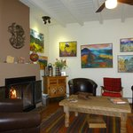 Main living/dining room-Free bottled waters, yogurts, granola bars!