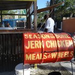 Best and cheap jerk chicken down the street from Citronella