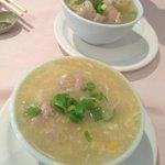 wonton soup and chicken & corn soup