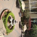 courtyard (sideways) outside our room