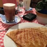 crepe and hot drinks