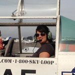 Kate on her cadet discovery flight